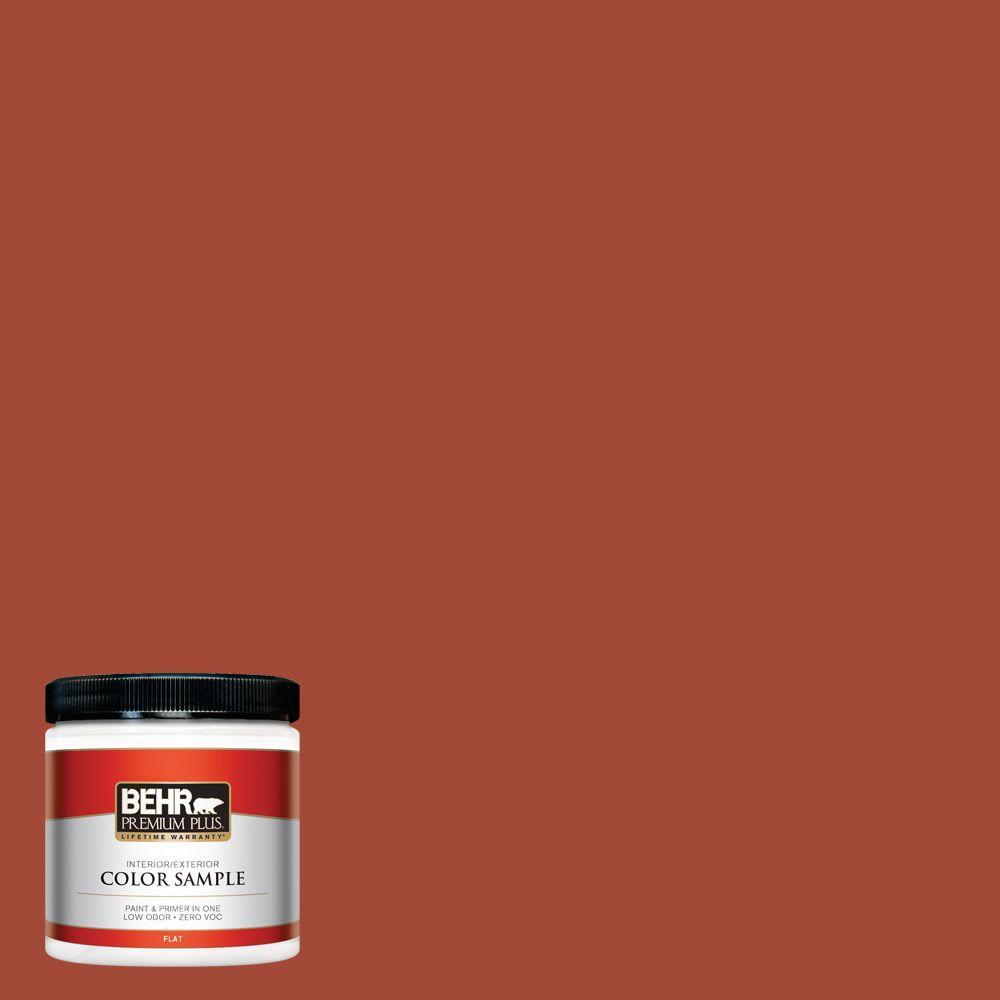 Behr Premium Plus 8 Oz 200d 7 Rodeo Red Flat Interior Exterior