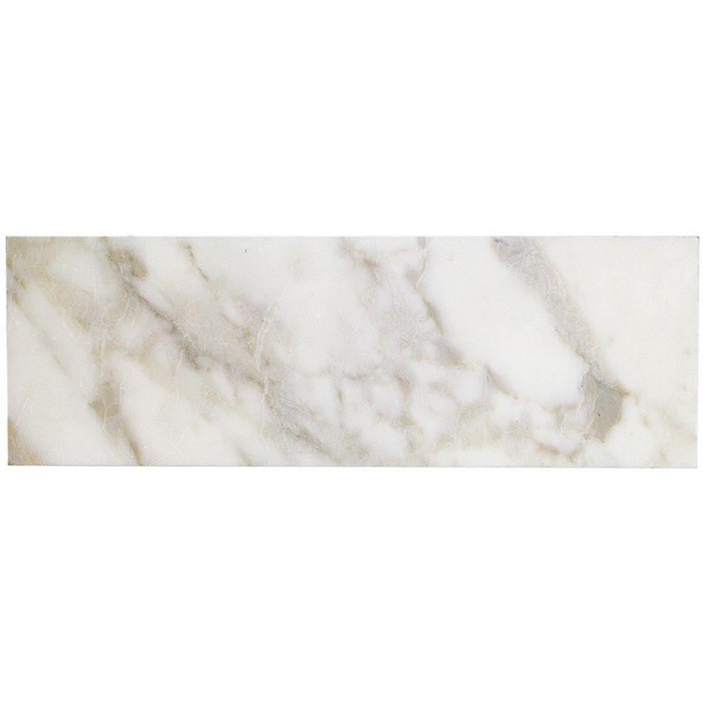 Splashback Tile Calacatta Gold 6 In X 18 10 Mm Polished Marble