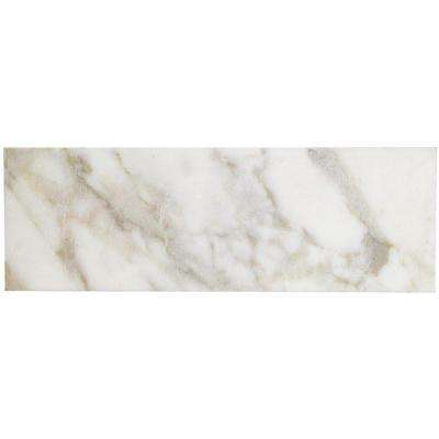 Calacatta Gold 6 in. x 18 in. x 10 mm Polished Marble Wall Tile