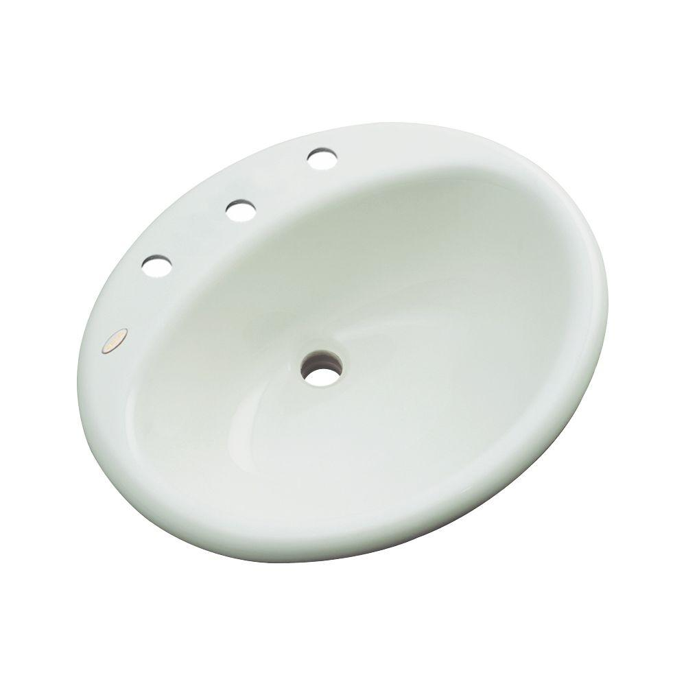 null Bayfield Drop-In Bathroom Sink in Ice Gray