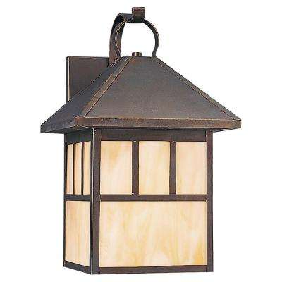 Prairie Statement 1-Light Antique Bronze Outdoor Wall Fixture