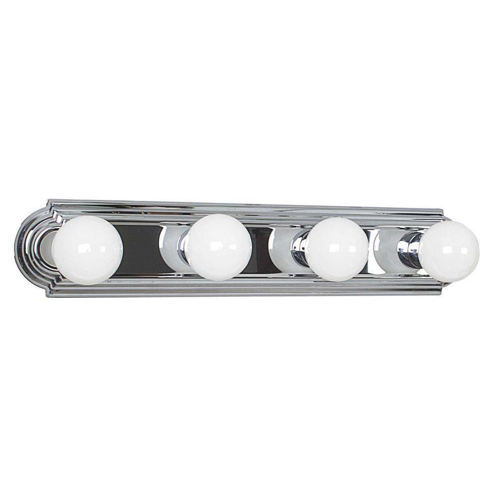 Raceway 4-Light Polished Chrome Bath Bar Light