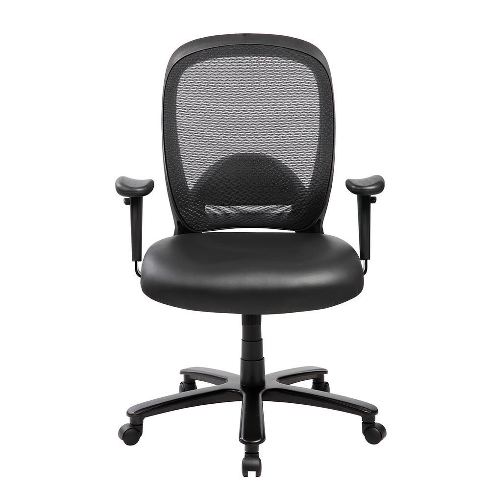 Brilliant Techni Mobili Black Comfortable Big And Tall Height Inzonedesignstudio Interior Chair Design Inzonedesignstudiocom
