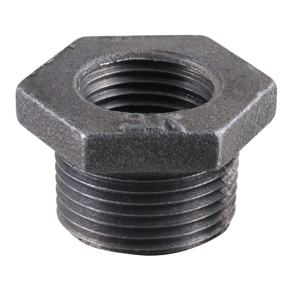 1/2 in. x 1/4 in. Black Iron Bushing