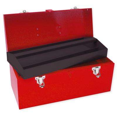 Heavy Duty Metal Tool Box - 16 in. X 7 in. X 7 in.