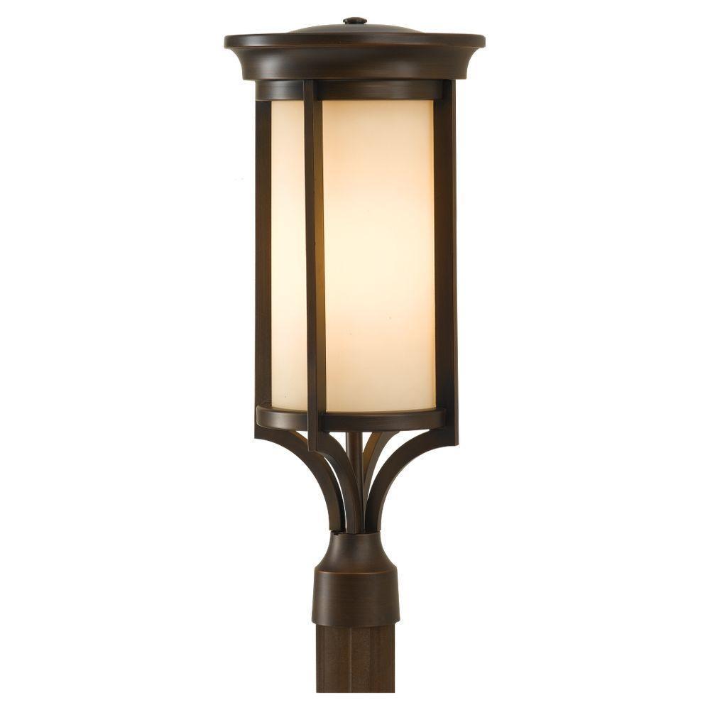 Merrill 2-Light Heritage Bronze Outdoor Post Top Light
