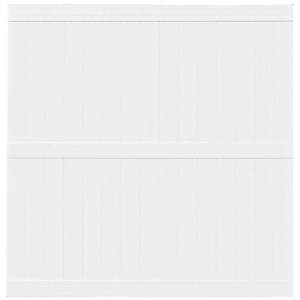 Veranda Pro Series 8 ft. H x 8 ft. W White Vinyl Hayward Privacy Fence Panel