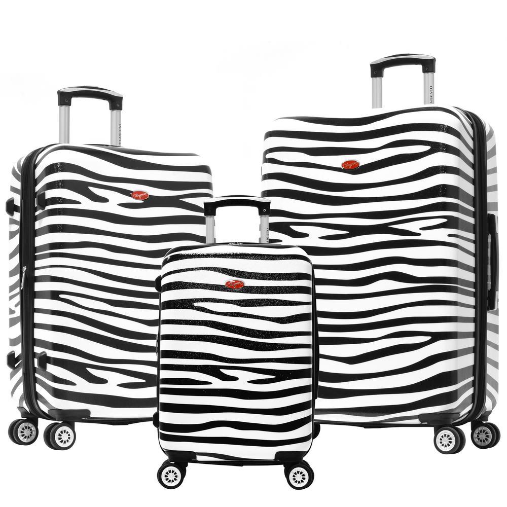 Metropolitan 3-Piece Hard Case Spinner Set Zebra