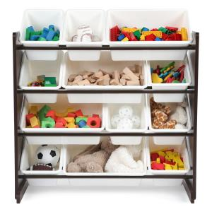 Tot Tutors Espresso Collection Espresso And White Kids Toy Storage
