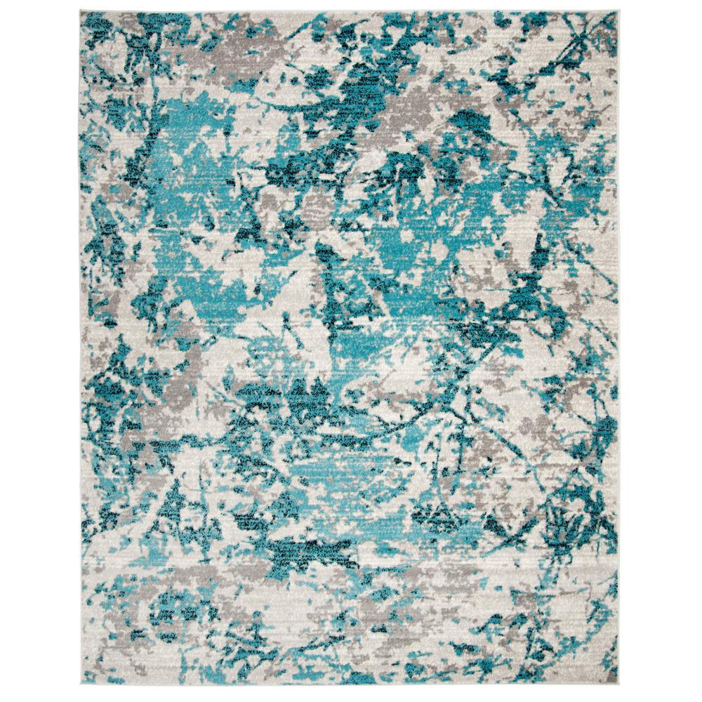 Skyler Blue/Ivory 9 ft. x 12 ft. Area Rug