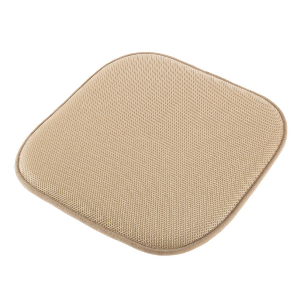 Tan Memory Foam Non-Slip Chair Pad