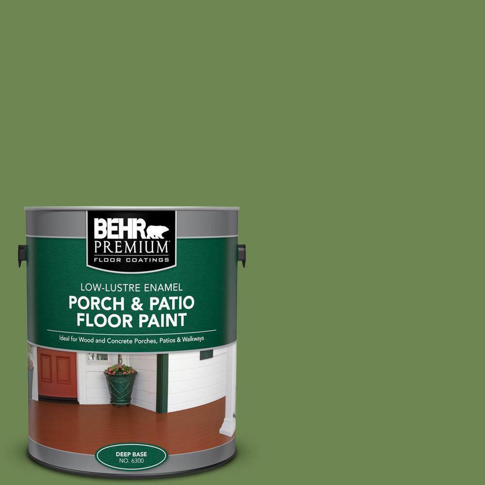 Behr Premium 1 Gal M370 6 Snip Of Parsley Low Lustre Enamel Interior Exterior Porch And Patio Floor Paint 630001 The Home Depot