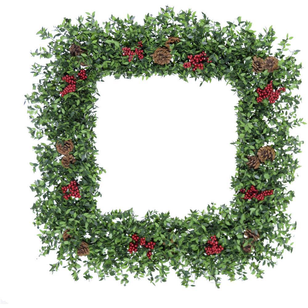 36 in. Wreath Arrangement with Pinecones and Berries