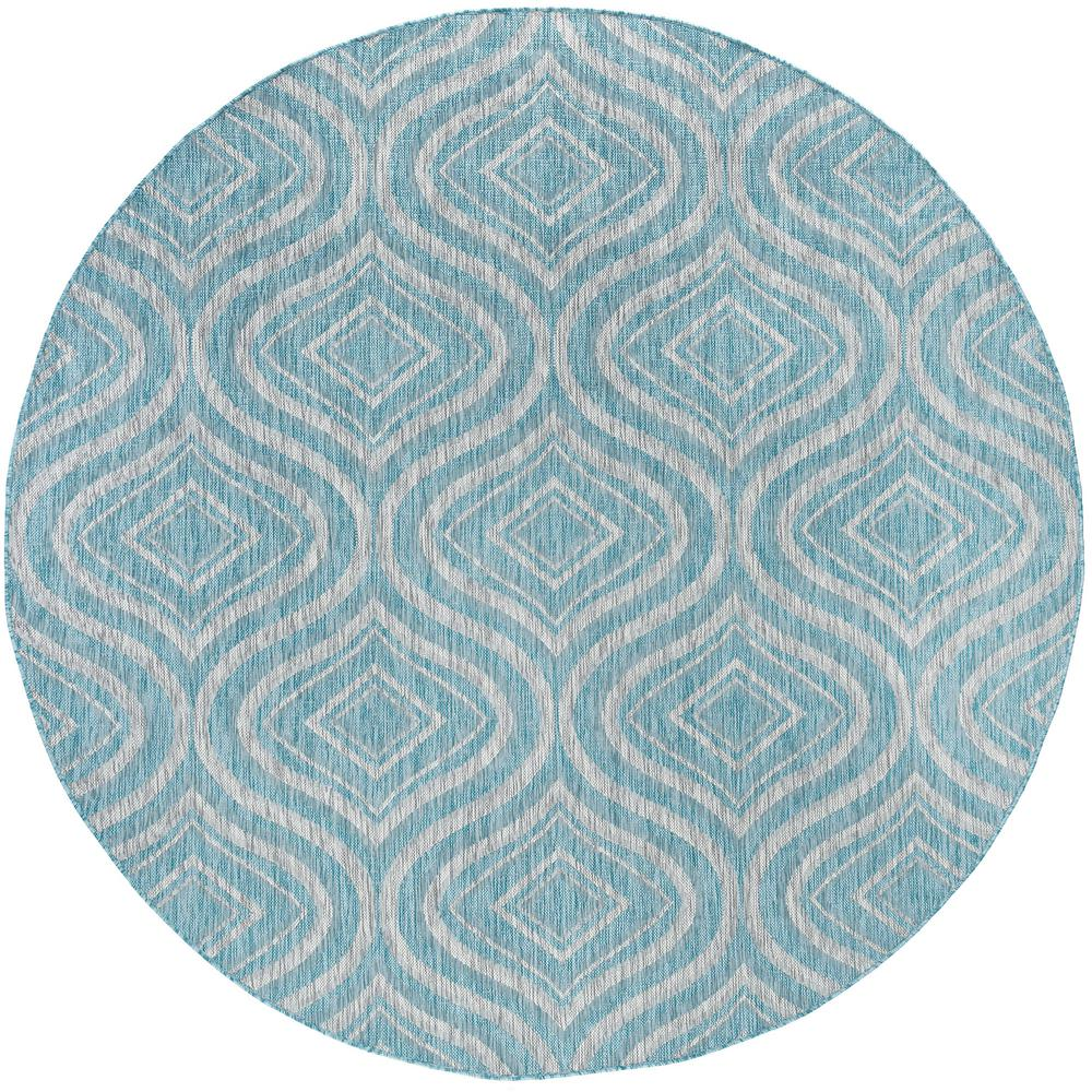 Tayse Rugs Veranda Seafoam 7 Ft 10 In X 7 Ft 10 In Outdoor