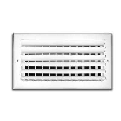 12 in. x 8 in. 2-Way Aluminum Adjustable Horizontal Curved Blade Wall/Ceiling Register