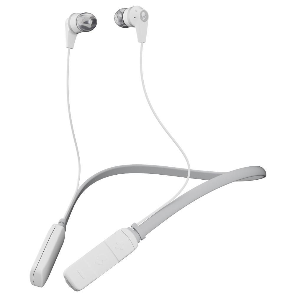 Ink'd Bluetooth Wireless Earbuds with Mic in White/Gray
