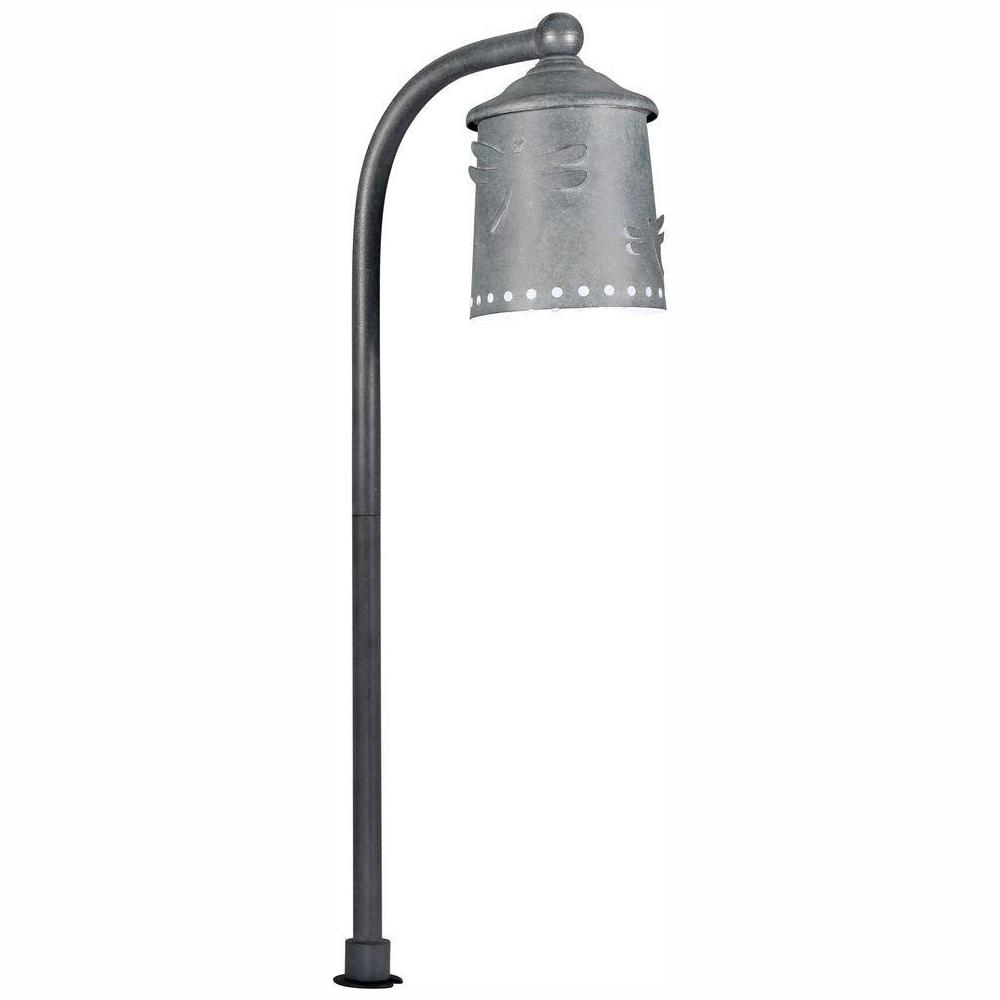 Hampton Bay Low-Voltage Black Outdoor Integrated LED Landscape Path Light  with Shade Details
