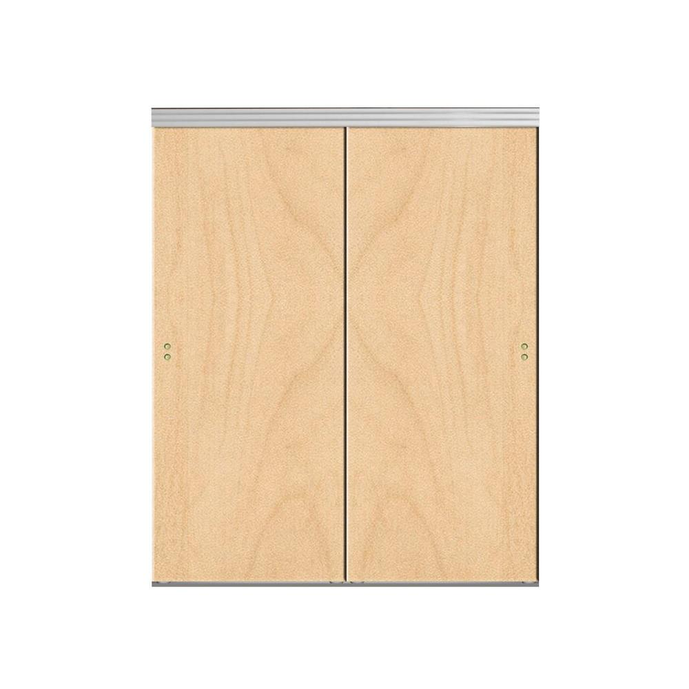 Impact plus 48 in x 80 in smooth flush stain grade maple for Solid core flush wood doors