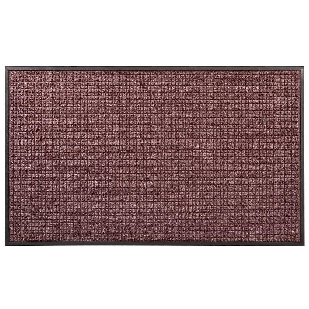 HomeTrax Designs Guzzler Burgundy 48 in. x 120 in. Rubber-Backed Entrance Mat