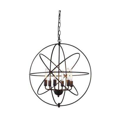 Vienna 6-Light Polished Nickel Pendant Lamp