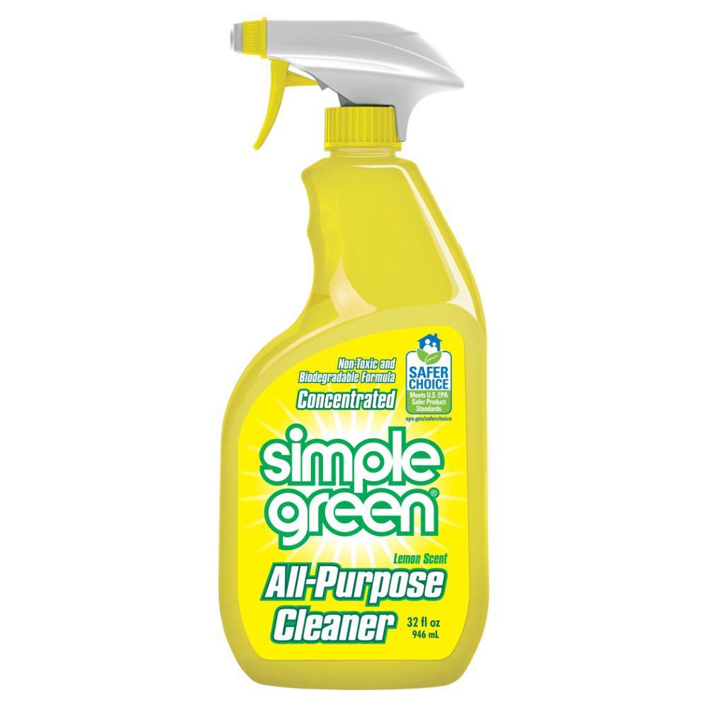 simple green 32 oz lemon scent all purpose cleaner case. Black Bedroom Furniture Sets. Home Design Ideas