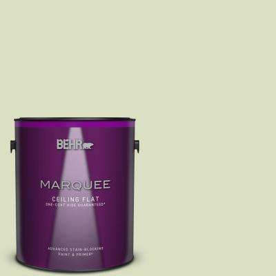 1 gal. #MQ3-47 Airy Green One-Coat Hide Ceiling Flat Interior Paint and Primer in One