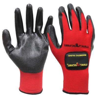 Extra-Large Nitrile Coated Gloves with (1) Removable Magnet (2-Pair)