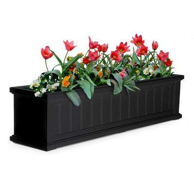 11 in. x 48 in. Black Cape Cod Window Box