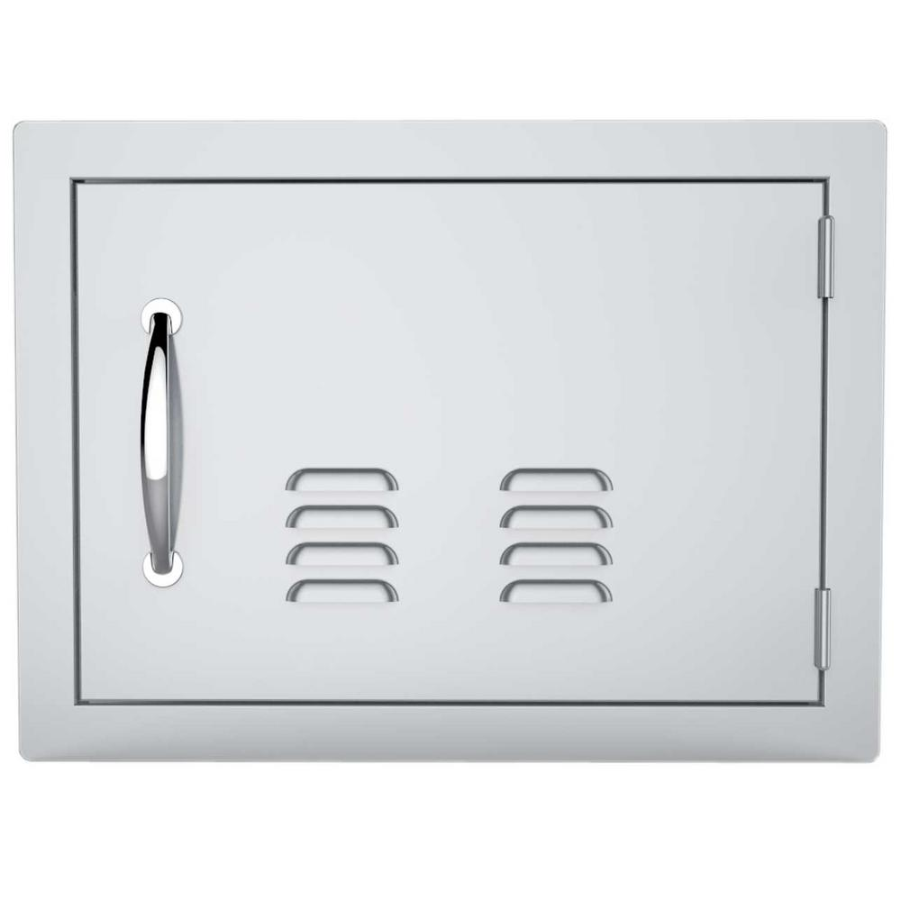 Sunstone Classic Series 14 in. x 20 in. 304 Stainless Steel Horizontal Access Door with Vents