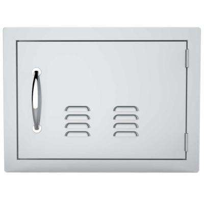 Classic Series 14 in. x 20 in. 304 Stainless Steel Horizontal Access Door with Vents