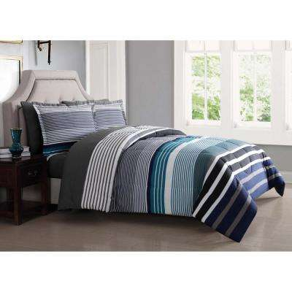 Abington Blue 5-Piece Twin Bed Ensemble