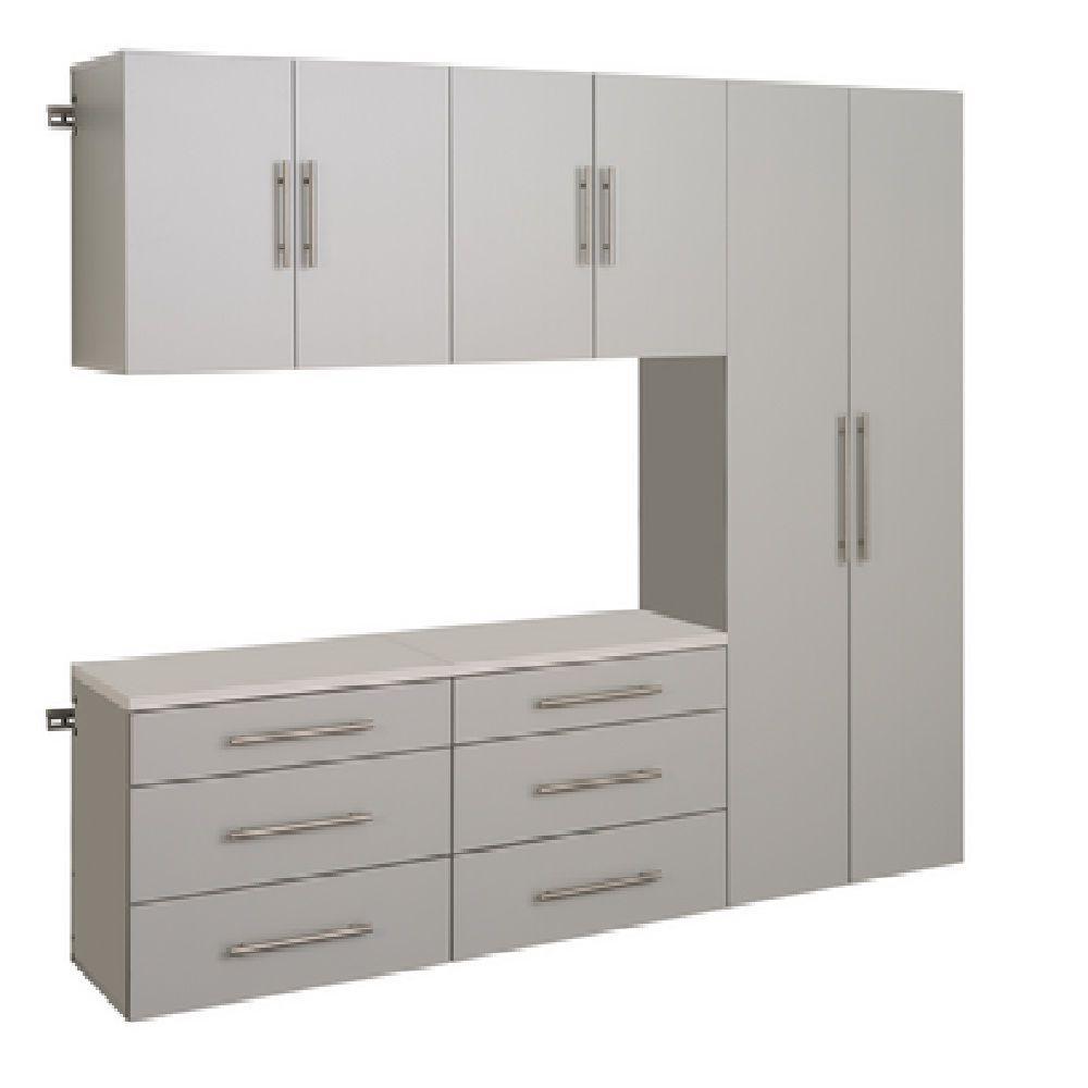HangUps 72 in. H x 90 in. W Light Gray Storage Cabinet Set H
