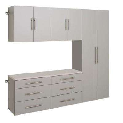Compare Hangups 72 In H X 90 W Light Gray Storage Cabinet Set