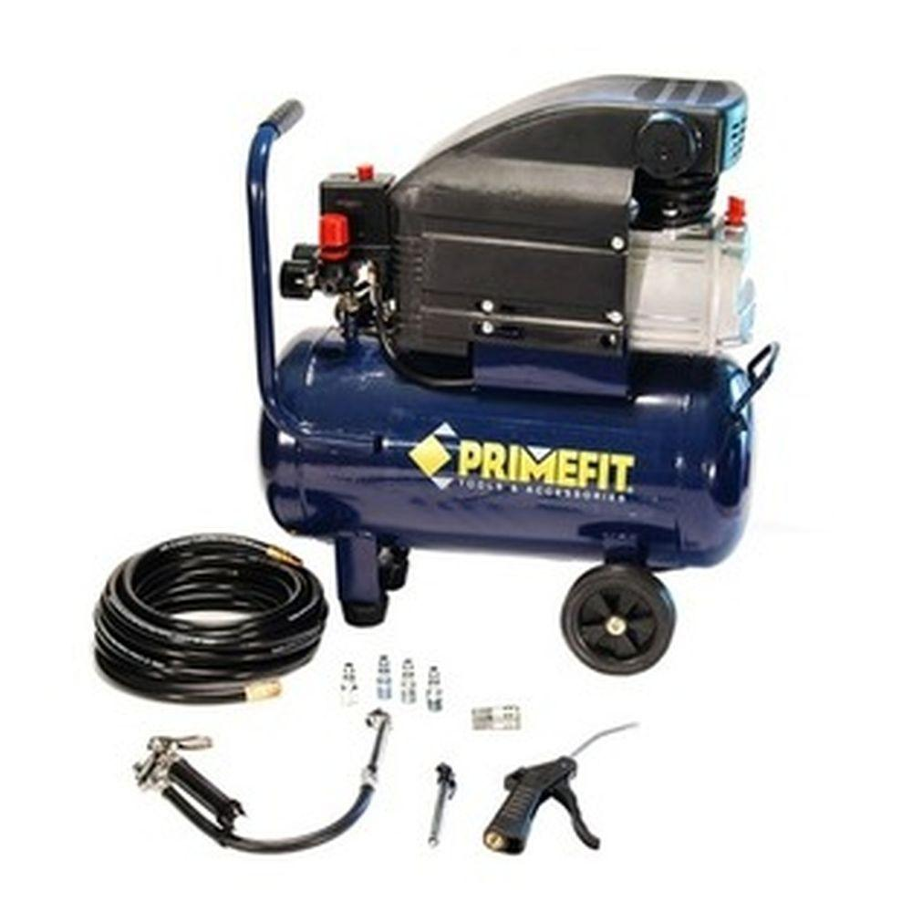 Primefit 6-Gal. Portable Air Compressor with Inflation Tool Hose and 26-Piece Accessory Kit-DISCONTINUED