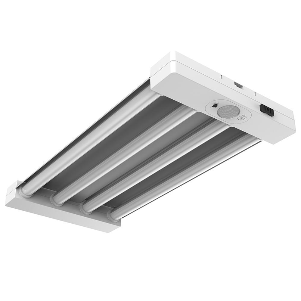 2 ft. 4-Light White Integrated LED Utility Motion Control Garage Light