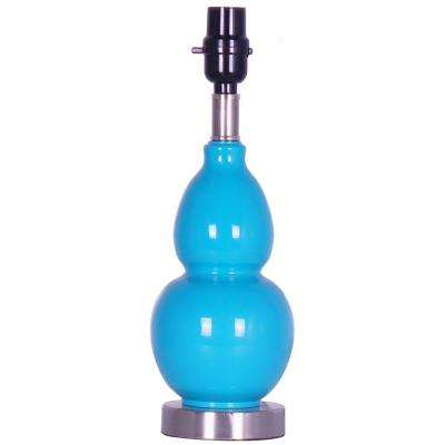 Mix & Match Aqua Gourd Metal Accent Lamp Base