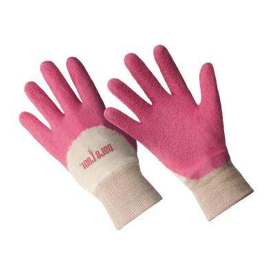 Ladies Premium Medium/Large Honeysuckle Latex Coated Gloves
