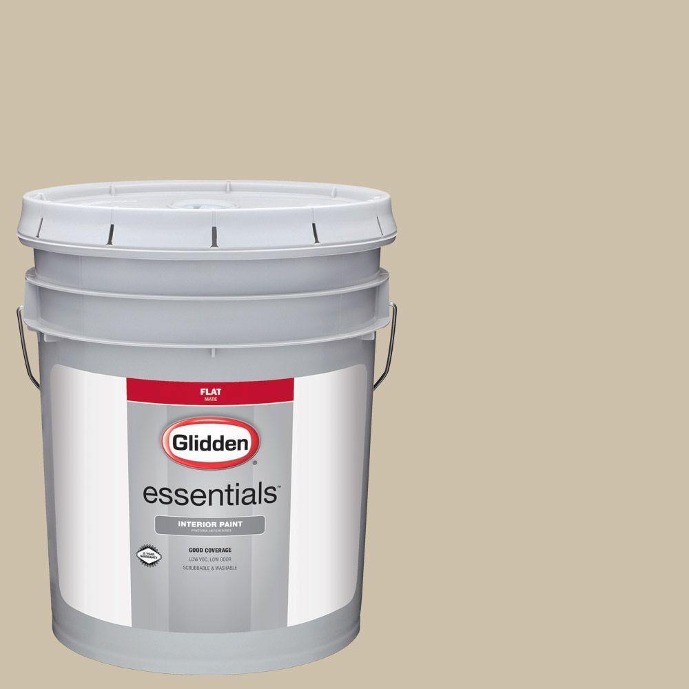 Reviews For Glidden Essentials 5 Gal Hdgwn28d Chatham Green Flat Interior Paint Hdgwn28de 05fn The Home Depot