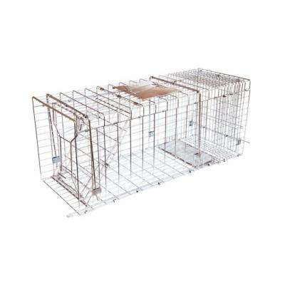 Answer Single Door Live Animal Cage Trap for Medium to Large Size Pests Steel Wire