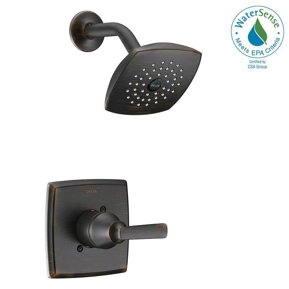 Delta Ashlyn 1 Handle Pressure Balance Shower Faucet Trim Kit In Venetian Bronze Valve