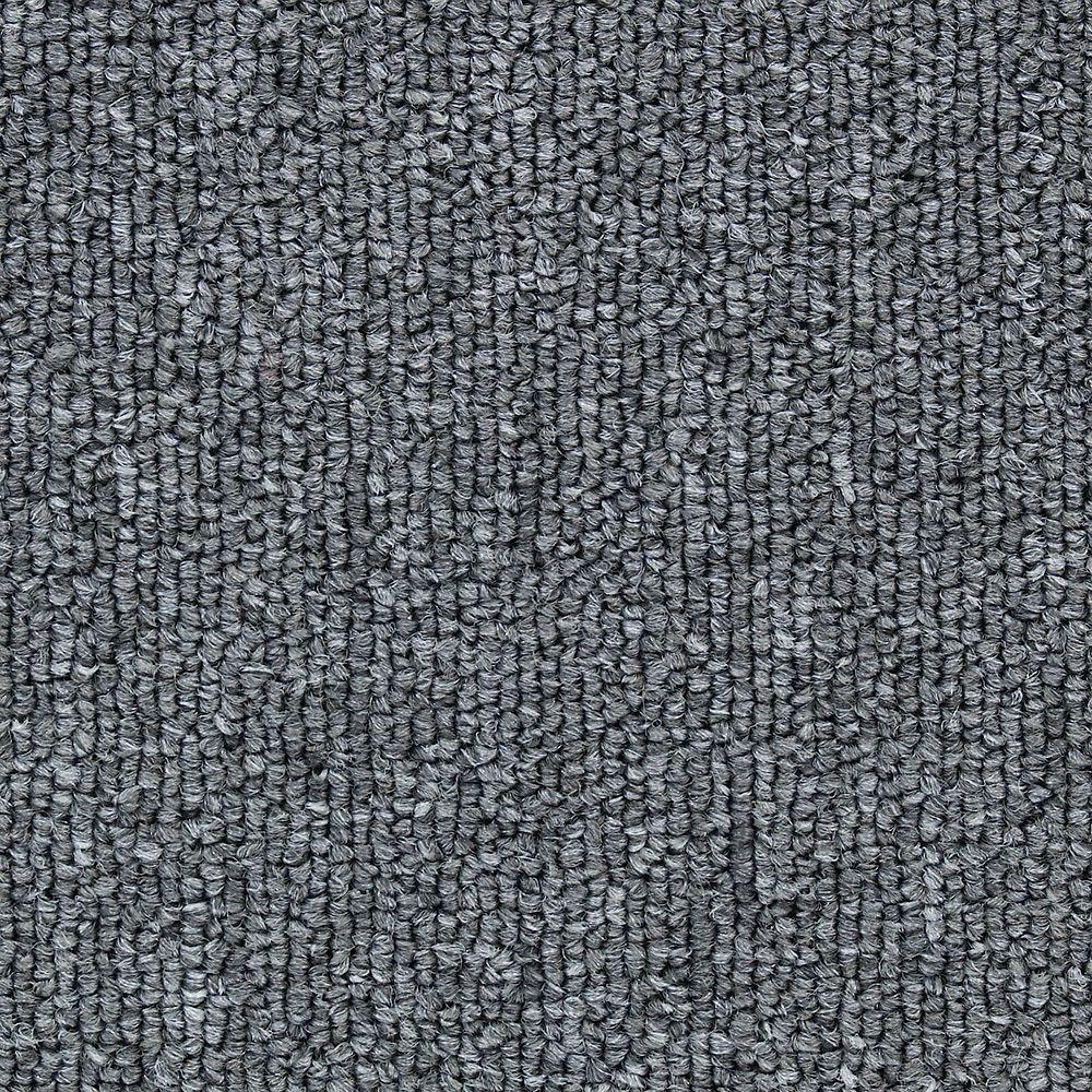 TrafficMASTER Bottom Line Base - Color Pewter 12 ft. Carpet