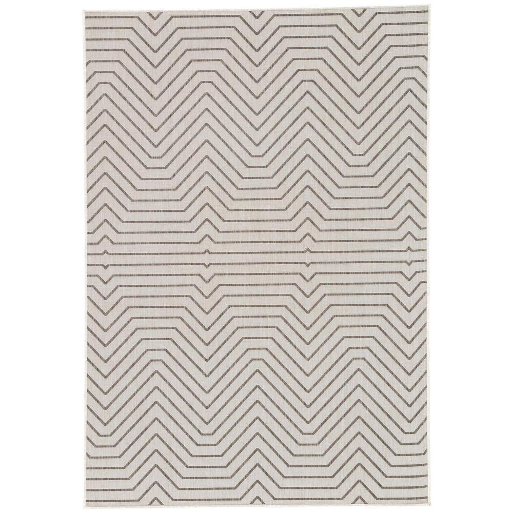 Vapor Blue 8 ft. x 10 ft. Geometric Indoor/Outdoor Area Rug