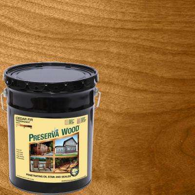 5 gal. Oil-Based Cedar-Fir Penetrating Exterior Stain and Sealer