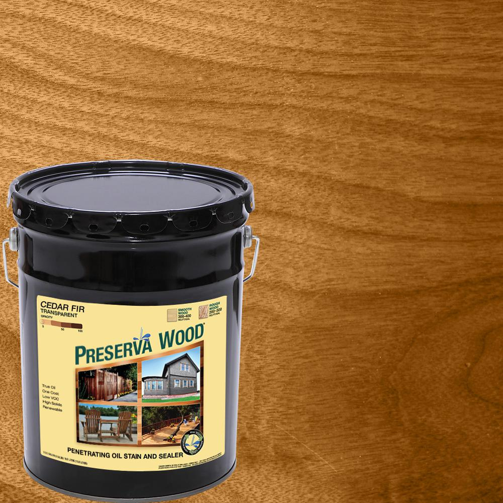 READY SEAL 5 Gal. Natural Cedar Exterior Wood Stain And