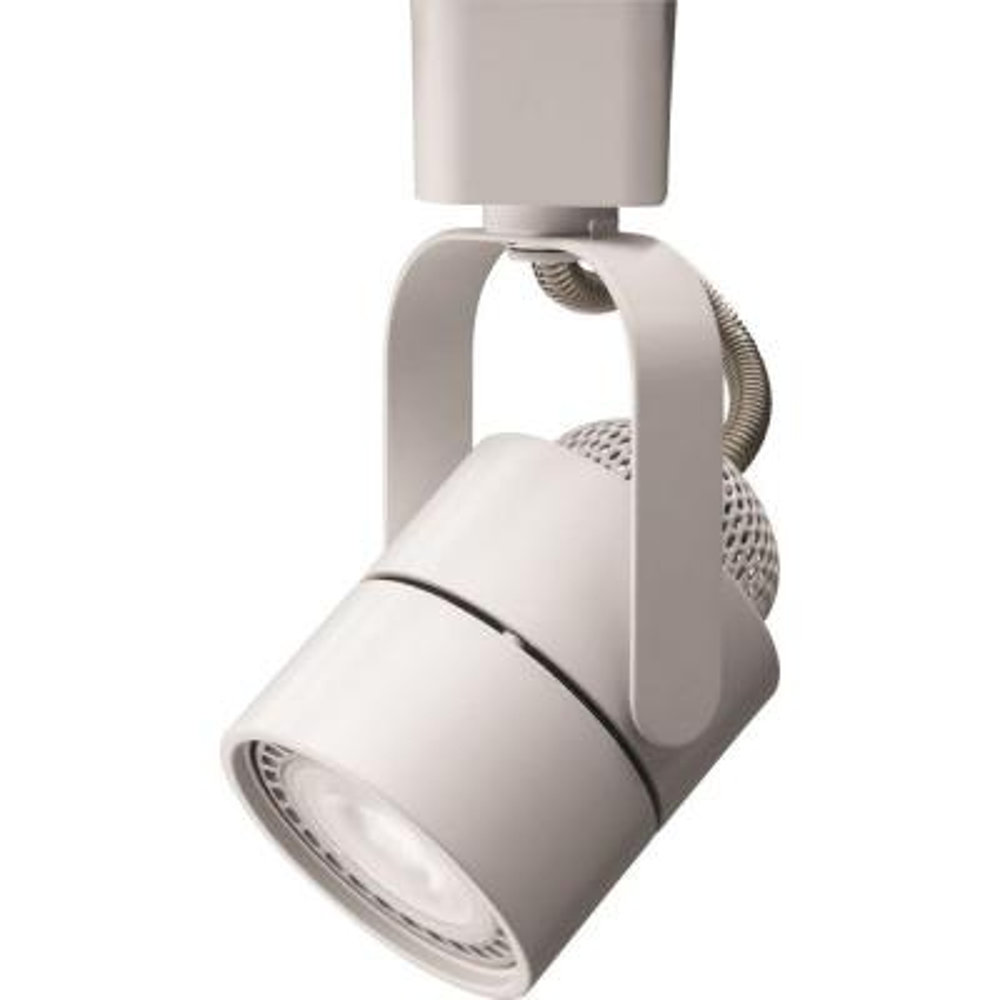 Meshback 1-Light White LED Track Lighting Head