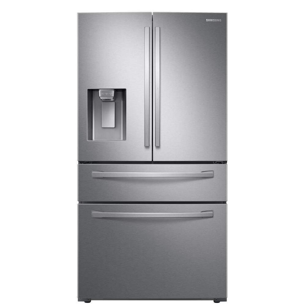 Samsung 22.4 cu. Ft. Food Showcase 4-Door French Door Refrigerator in Fingerprint Resistant Stainless Steel, Counter Depth