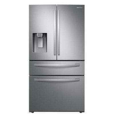 27.8 cu. ft. Food Showcase 4-Door French Door Refrigerator in Fingerprint Resistant Stainless Steel