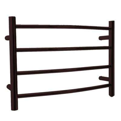 Glow 4-Bar Stainless Steel Wall Mounted Towel Warmer in Oil Rubbed Bronze