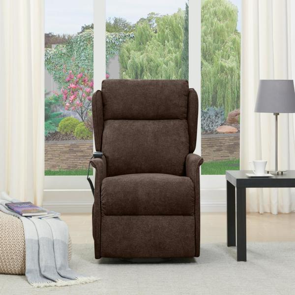 ProLounger Classic Power Chocolate Brown Chenille Recline