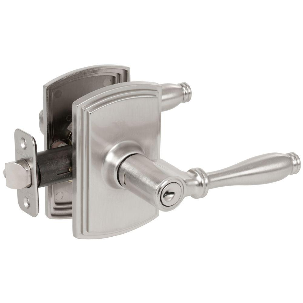 Italian Collection Sorado Satin Nickel Keyed Entry Door Lever